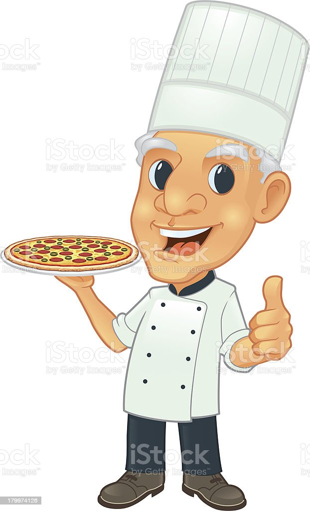 Senior Chef With Pizza royalty-free senior chef with pizza stock vector art & more images of adult