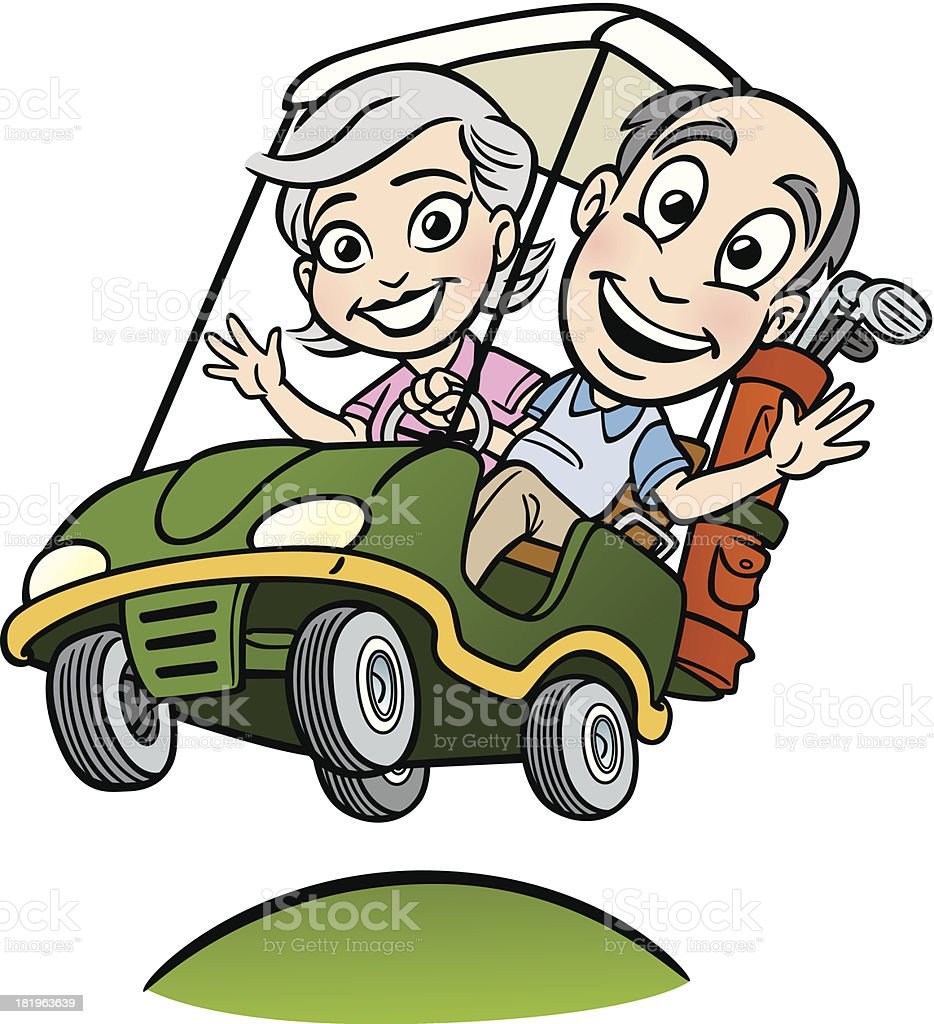 One Person Golf Cart >> Royalty Free Retirement Golf Clip Art, Vector Images & Illustrations - iStock