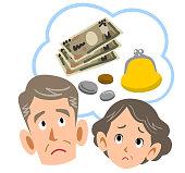 Senior couple suffering from money