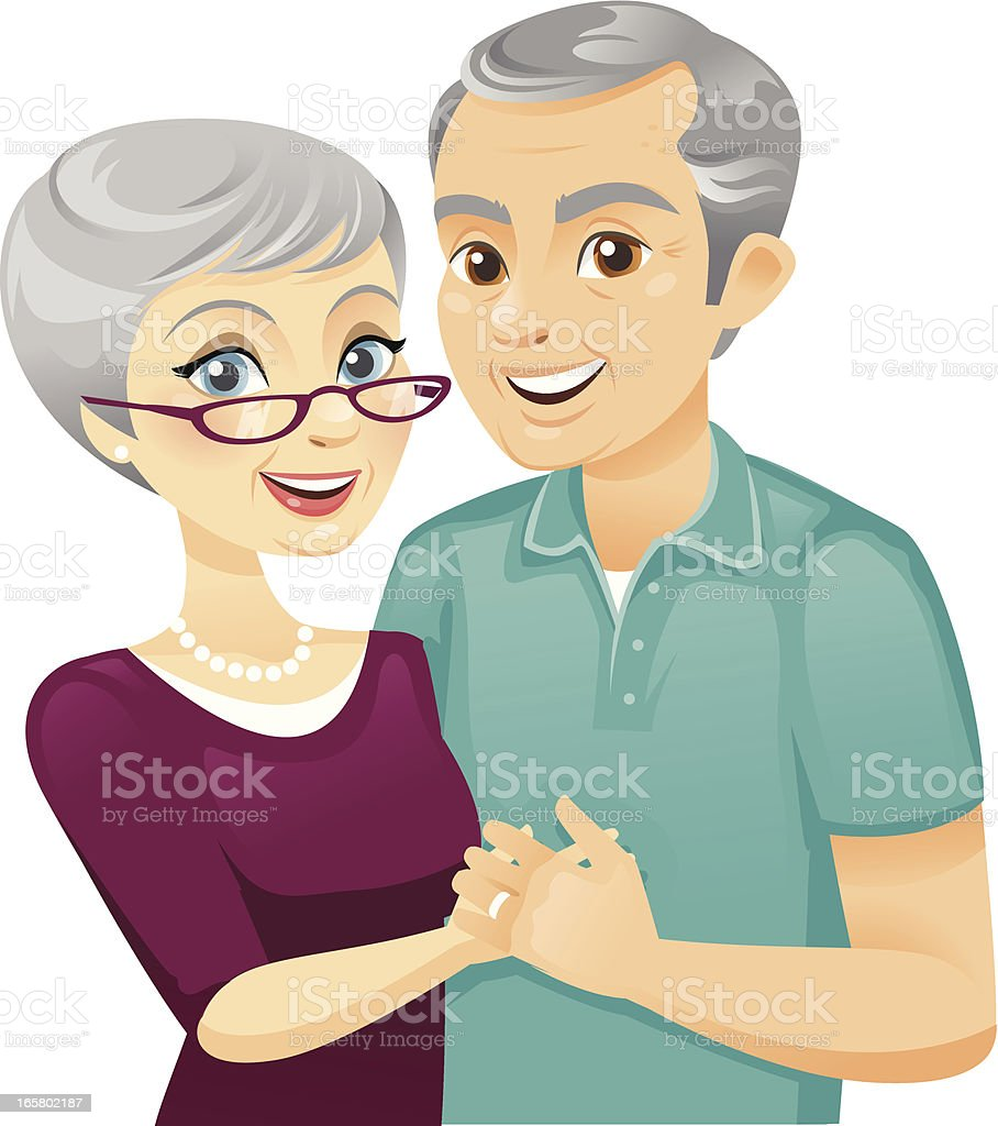 Senior Couple royalty-free stock vector art