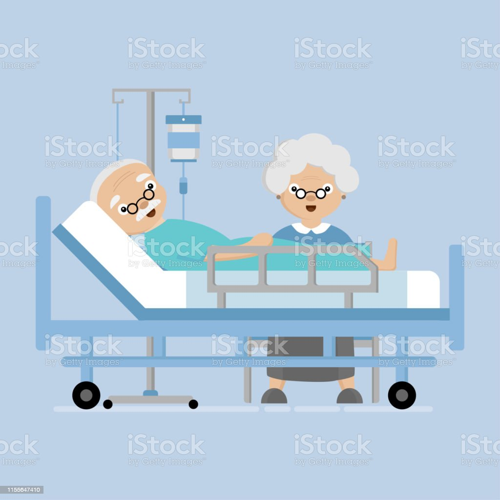 Hastanede Eski Yaslilar Cifti Ask Ve Birbirlerine Kavrami Icin