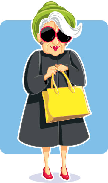 Funny Old Lady Illustrations, Royalty-Free Vector Graphics ...
