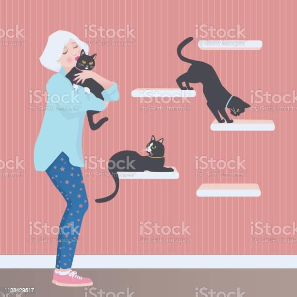 Senior lady with her cats vector id1138429517?b=1&k=6&m=1138429517&s=612x612&h=zjwnl83acwi74b4fn74dfmbfffrv3qzddpbu abd8uo=