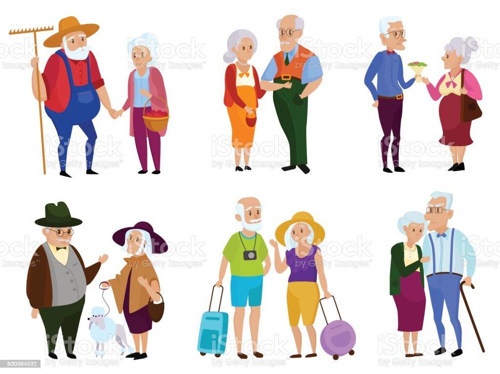 Ilustración de Mayores Actividades De Hombre Y Mujer Día De Los ...
