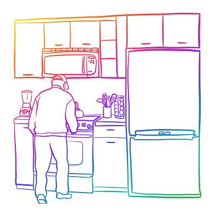 Senior Man Independent Living Rainbow