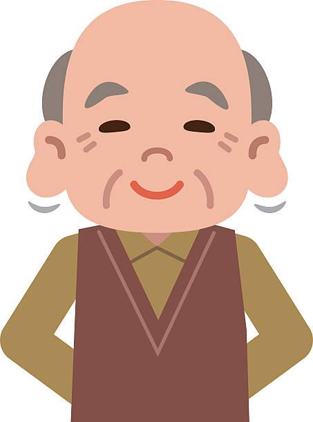 ilustraciones, imágenes clip art, dibujos animados e iconos de stock de senior hombre de cómodos oreja - abuelos