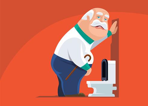 senior man with urinary problem