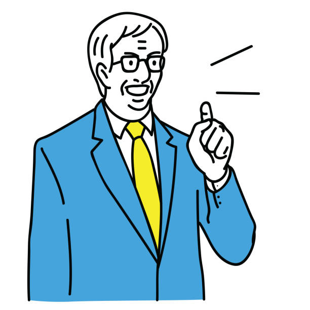 senior manager serious speaking - old man crying cartoon stock illustrations, clip art, cartoons, & icons