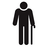 istock Senior Men's Washroom Accessibility Icon 1300218228