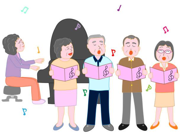 stockillustraties, clipart, cartoons en iconen met senior muziek - castagnetten