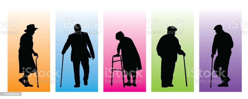Caracteres de mayor personalidad - ilustración de arte vectorial