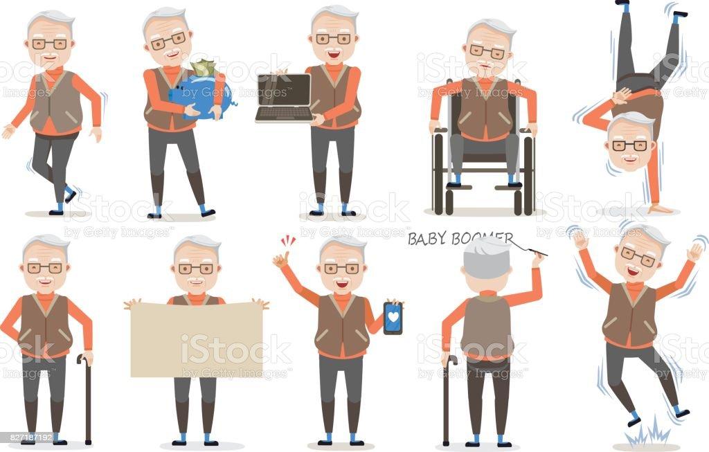 Posa del Senior - ilustración de arte vectorial