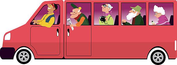 elderly transportation stock illustrations