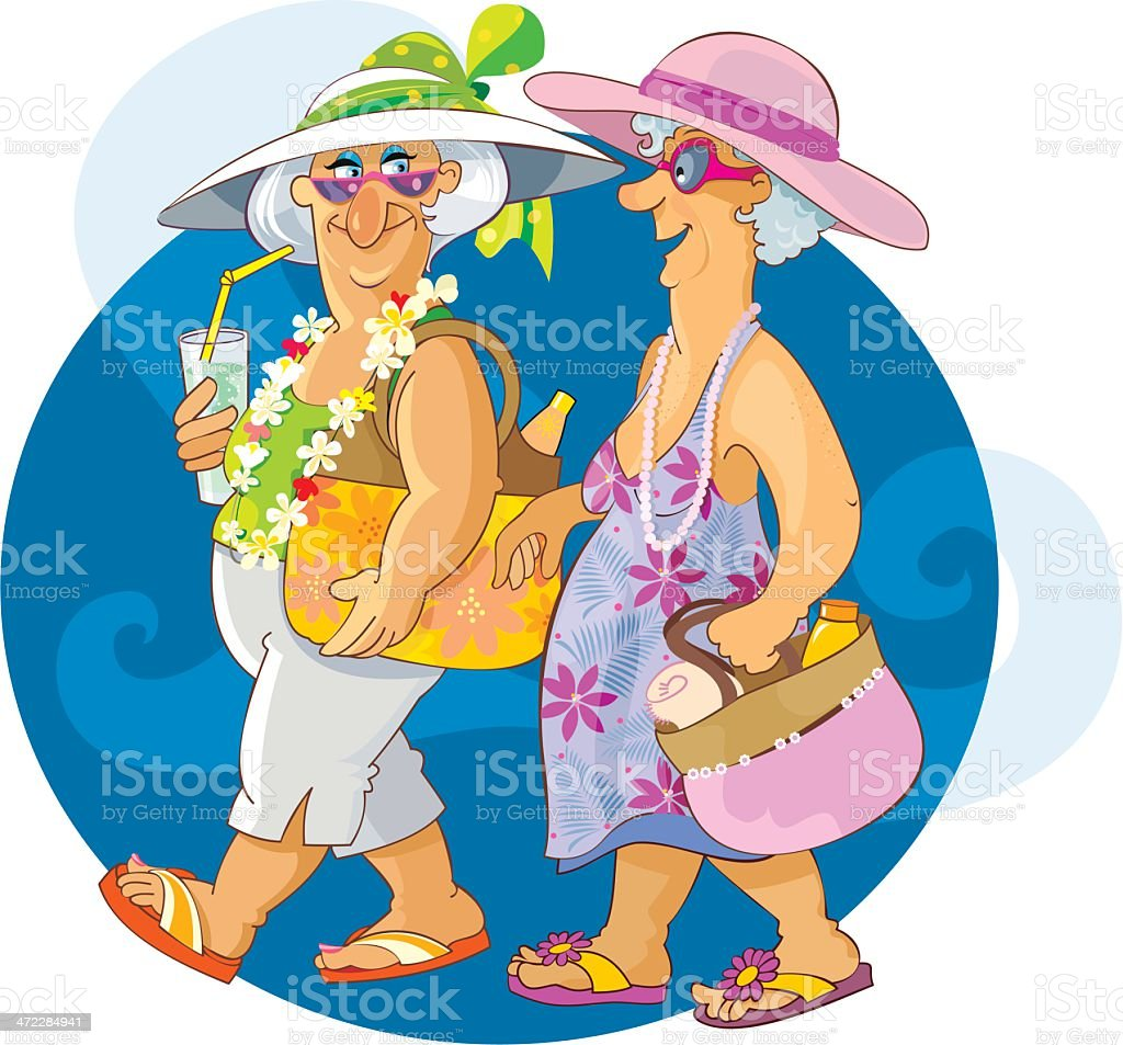 Senior Vacation royalty-free senior vacation stock vector art & more images of 60-69 years