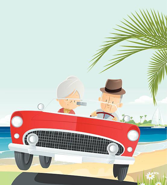 bildbanksillustrationer, clip art samt tecknat material och ikoner med senior vacation - aktiva pensionärer utflykt