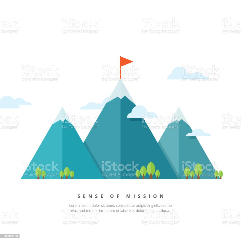 Sense of Mission vector art illustration