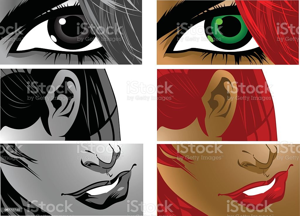 Senses royalty-free stock vector art
