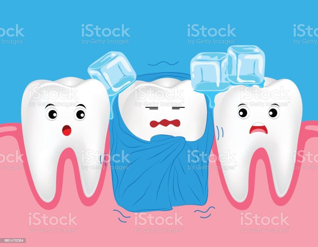 Vectores De Sensibilidad Dental Y Illustraciones Libre De