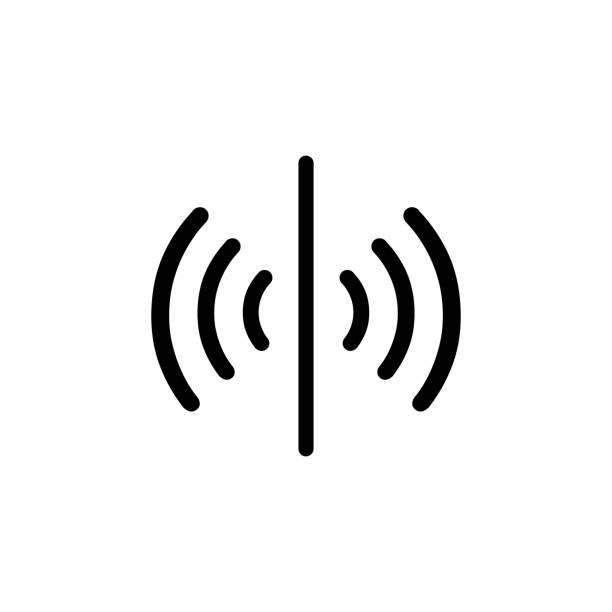 illustrazioni stock, clip art, cartoni animati e icone di tendenza di icona del vettore del sensore, simbolo del segnale. design semplice e piatto per app web o mobile - sensore