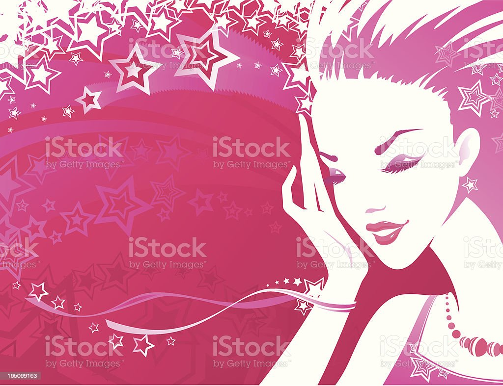 Sensuality - Pink vector art illustration