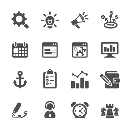 seo and internet marketing icon set 2, vector eps10..