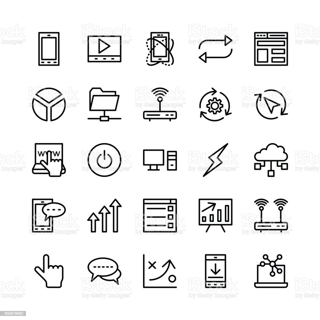 Seo and Marketing Vector Icons 7 vector art illustration
