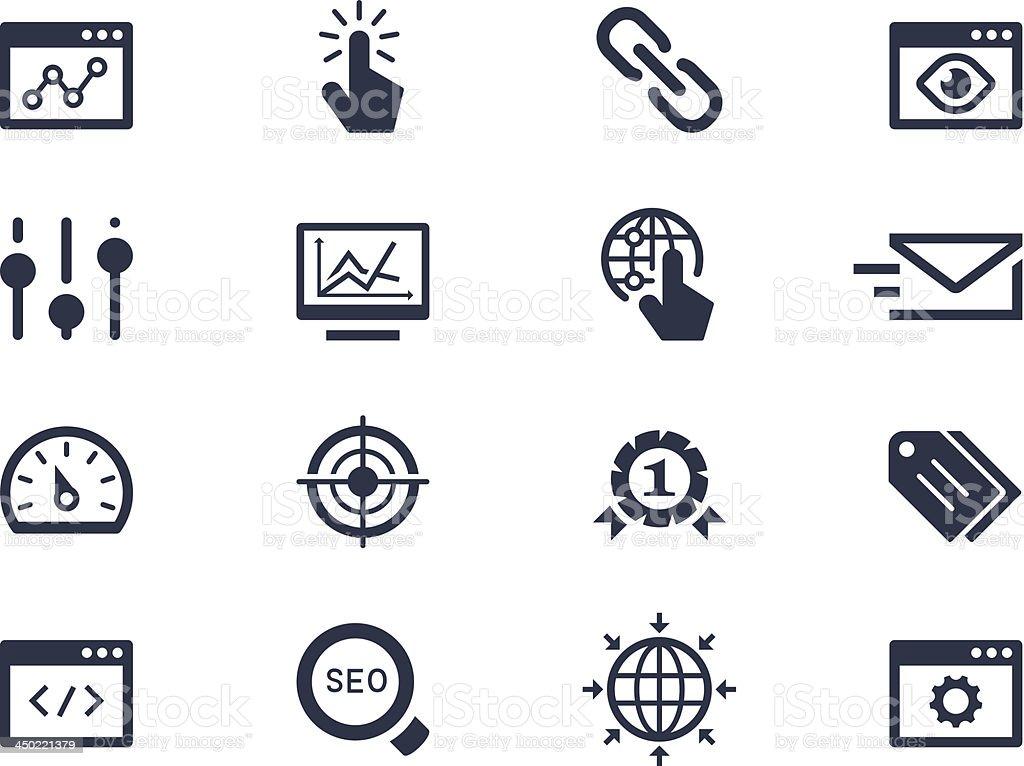 Seo and optimization icons vector art illustration