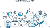 Seo, optimization methods and tools, analysis, information protection.