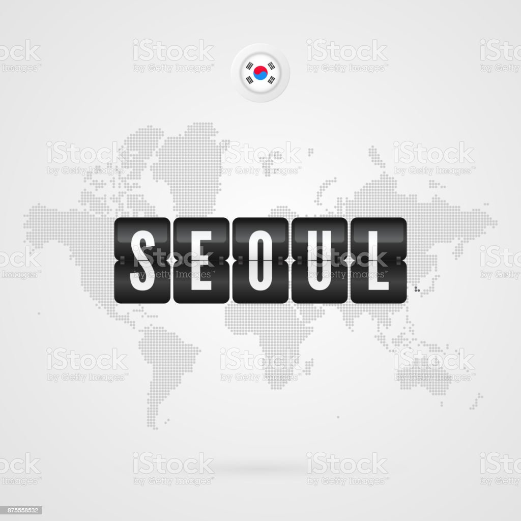Seoul Scoreboard South Korea F...