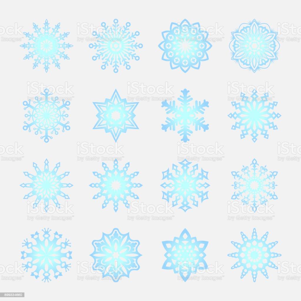 フラット スタイル Eps10 での独立した雪のいたずら書き素朴なのベクトル