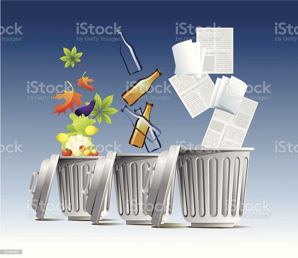 Separate trash royalty-free stock vector art