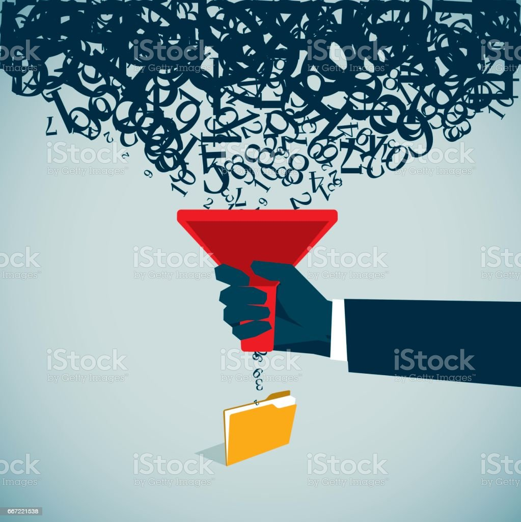 Separating Funnel vector art illustration