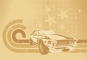 istock Sepia muscle car motif 165067433