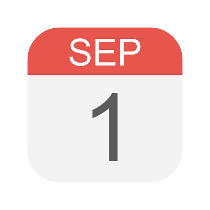 September 1 Calendar Icon Stock Illustration - Download Image Now - iStock