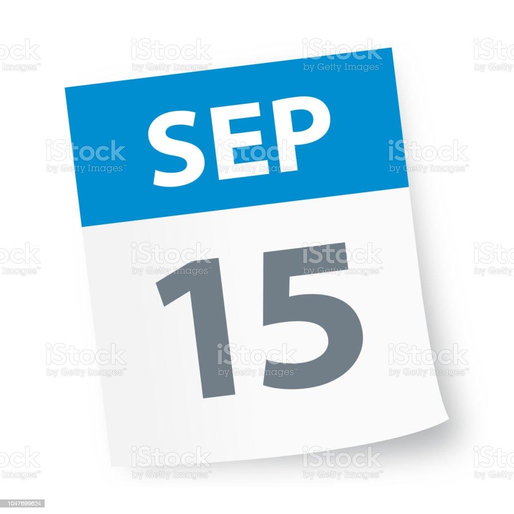 15 Septembre Icône De Calendrier Vecteurs libres de droits et plus d'images vectorielles de 2018 - iStock