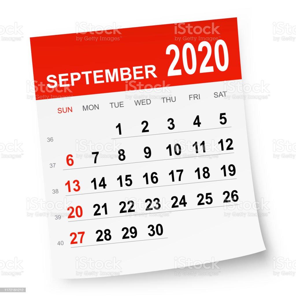 Calendrier De Septembre 2020.Calendrier De Septembre 2020 Vecteurs Libres De Droits Et