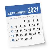 istock September 2021 Calendar 1278747707