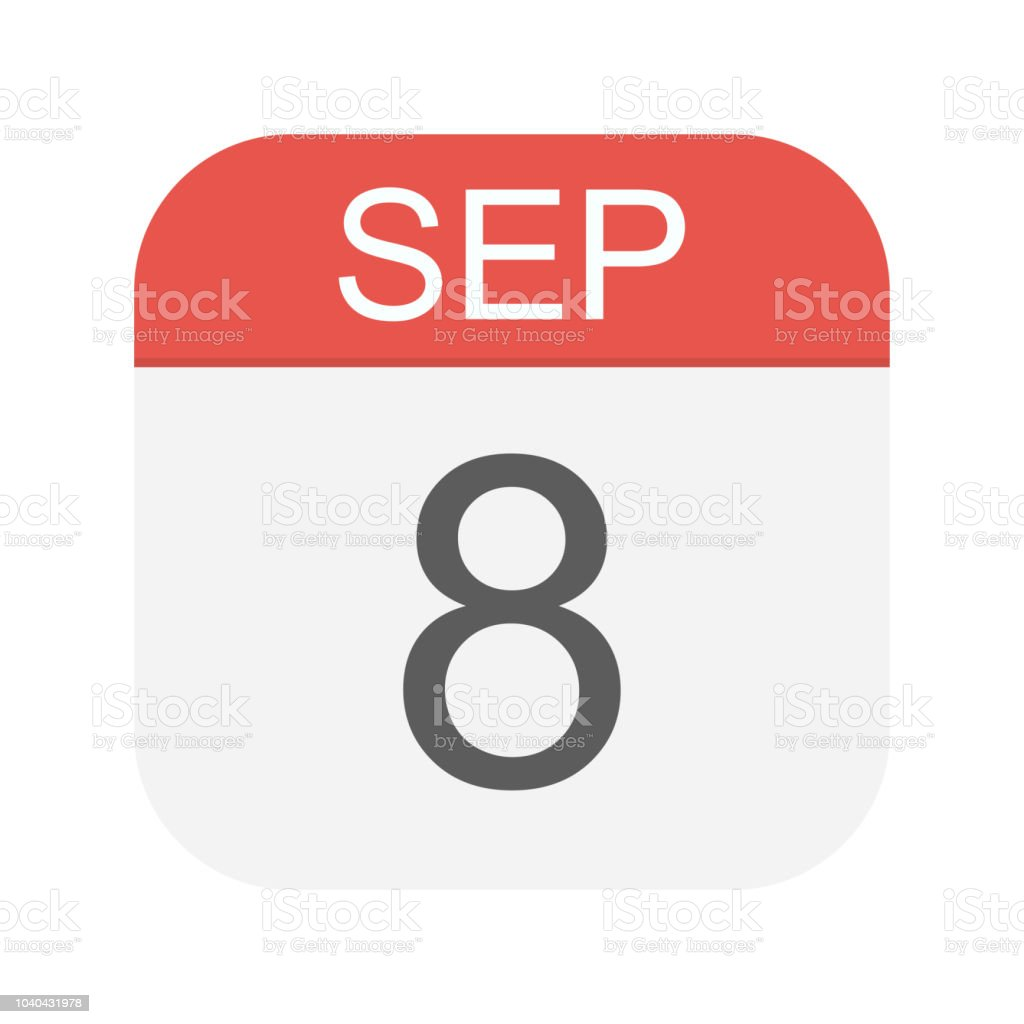 1978 Calendar September.September 8 Calendar Icon Stock Illustration Download Image Now