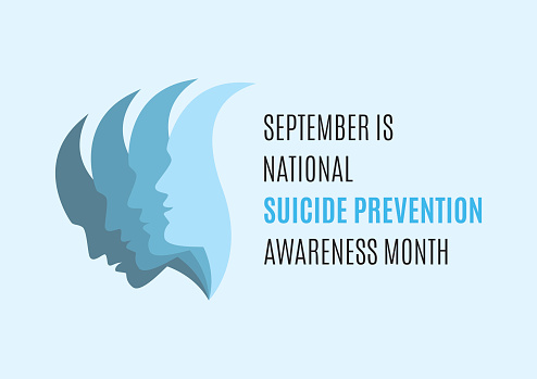 September is National Suicide Awareness Month vector
