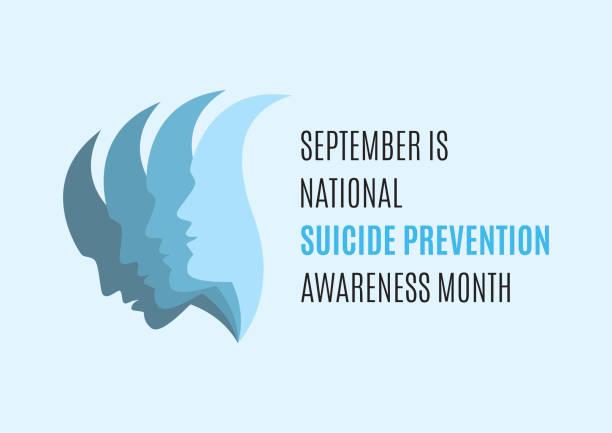 stockillustraties, clipart, cartoons en iconen met september is national suicide awareness month vector - zelfmoord