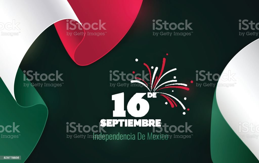 16 September. Mexico Happy Independence Day greeting card. vector art illustration