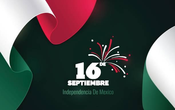 16 de setembro. Cartão de feliz dia da independência de México. - ilustração de arte em vetor