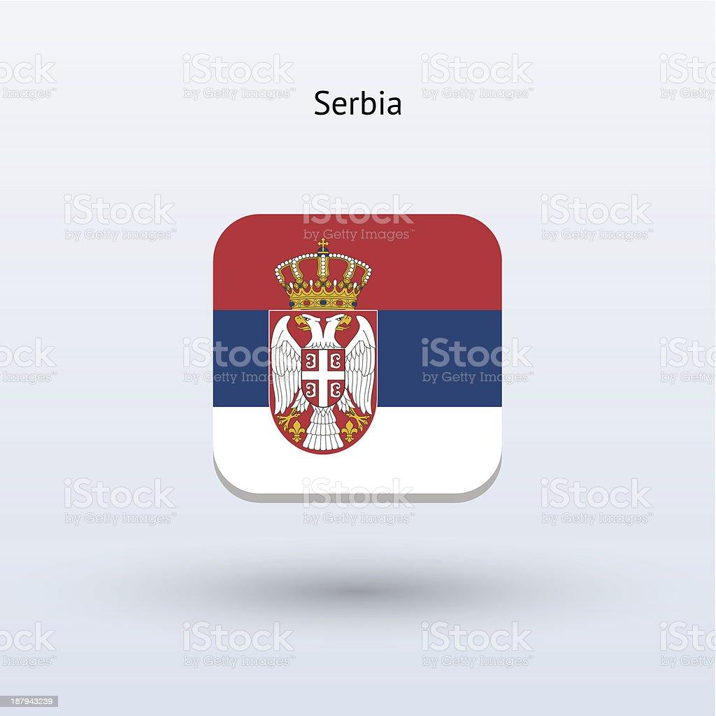 Serbia Flag Icon royalty-free stock vector art