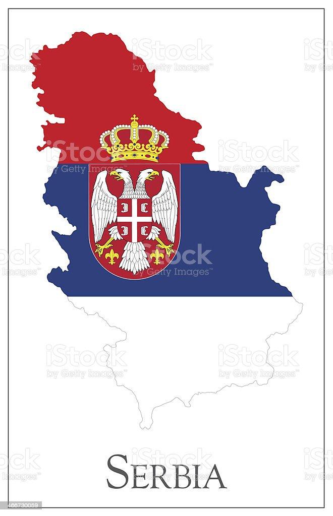 Mappa Di Bandiera Della Serbia Immagini Vettoriali Stock E Altre
