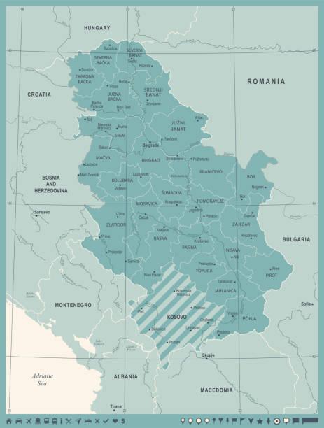 Royalty Free Pristina Clip Art Vector Images Illustrations IStock - pristina map