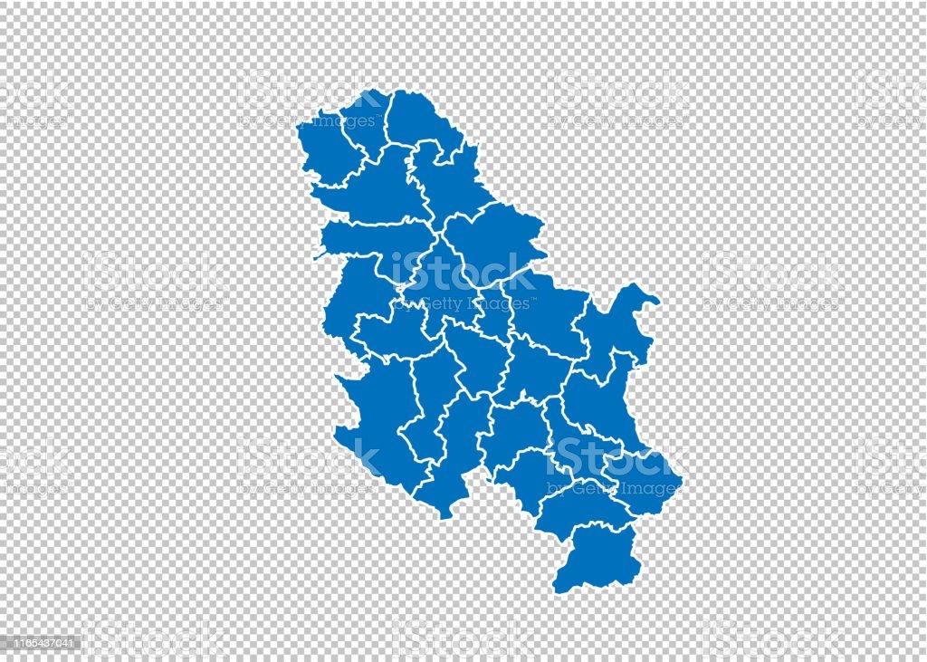 Kosovo Karte Europa.Serbien Keine Kosovokarte Hohe Detaillierte Blaue Karte Mit