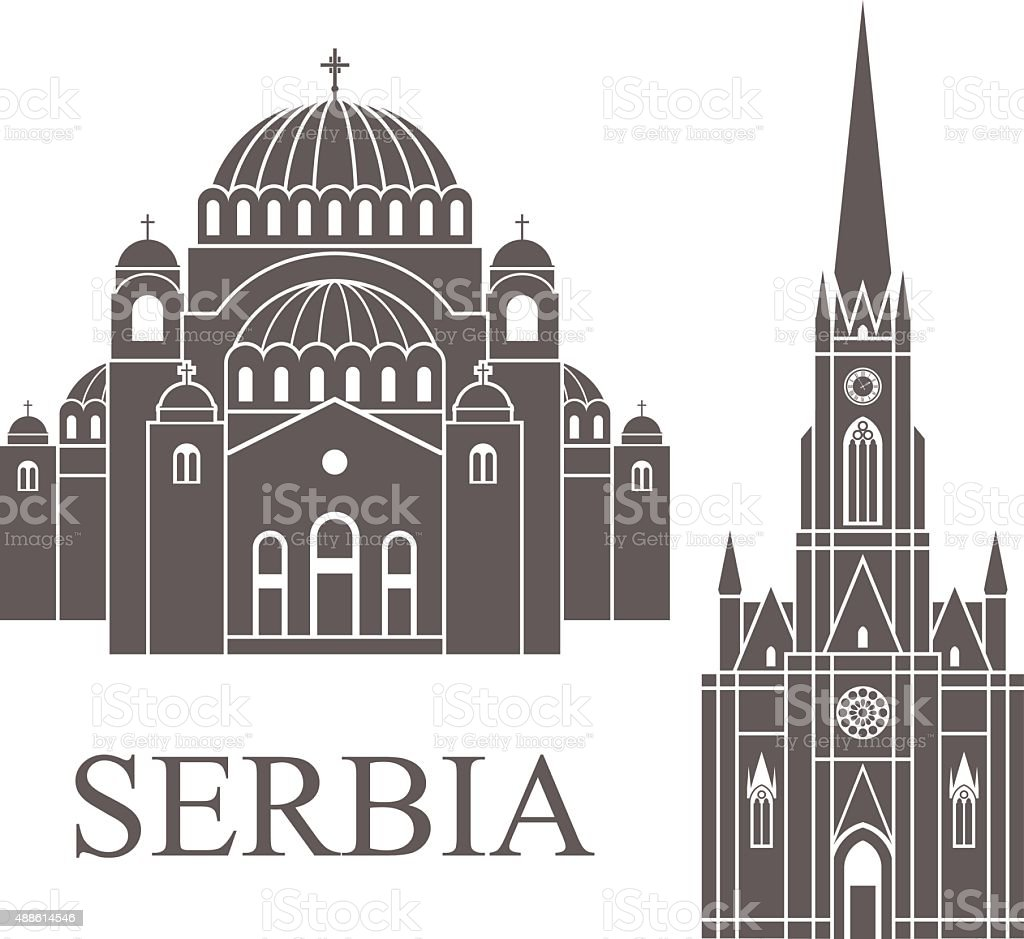 Serbia vector art illustration