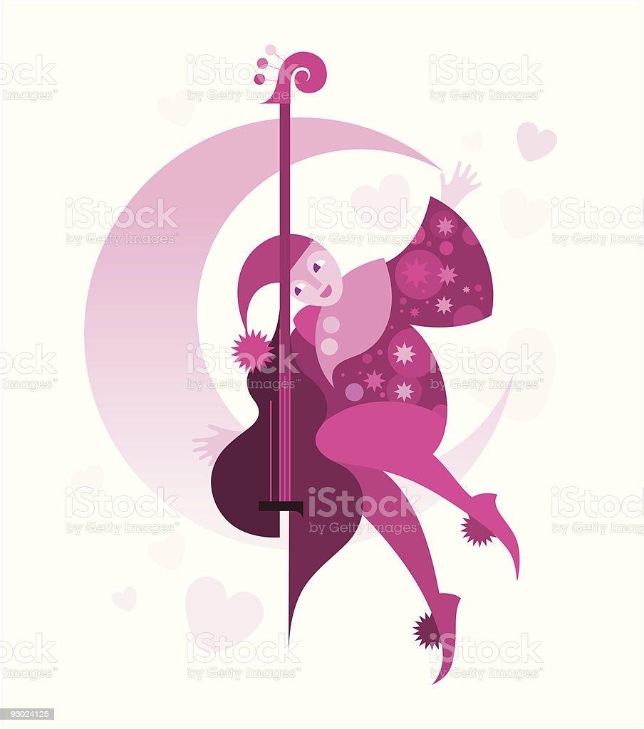Serenade royalty-free stock vector art