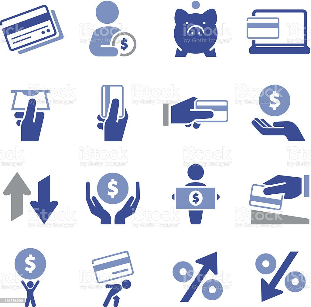 Series of illustrated money and credit icons royalty-free series of illustrated money and credit icons stock vector art & more images of atm