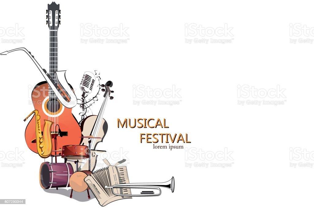 Série d'horizons musicaux. - Illustration vectorielle